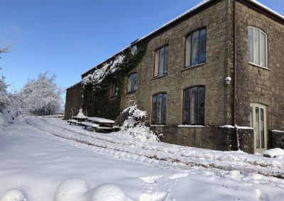 Harthill Grange in the snow